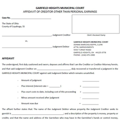 Bank Attachment Forms. Bank   Affidavit  Affidavit Forms