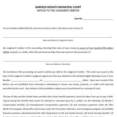Forms | Garfield Heights Municipal Court