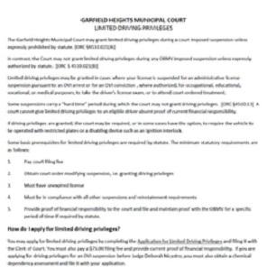 Heights Court Municipal Forms Garfield