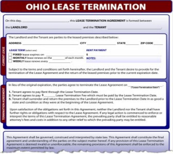 notice to terminate - Notice Of Lease Termination