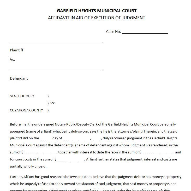 Forms | Garfield Heights Municipal Court